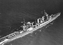 USS Tuscaloosa (CA-37) in October 1942