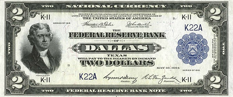 File:US $2 1918 Federal Reserve Bank Note.jpg