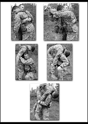 Fireman's carry - Image: US Army FM 3 21.75 3 40F J