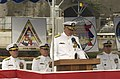 US Navy 030701-N-8590G-002 Commander, Submarine Group Seven Change of Command takes place aboard the Los Angeles-class submarine.jpg