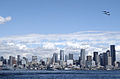 US Navy 040805-N-0683J-641 The U.S. Navy Blue Angels fly over Seattle during a parade of U.S. Naval vessels.jpg