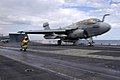 US Navy 050622-N-8604L-138 An E-A-6B Prowler launches from the flight deck aboard the conventionally powered aircraft carrier USS Kitty Hawk (CV 63).jpg