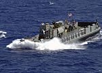 US Navy 060831-N-1598C-002 Landing Craft Utility (LCU) 1658 performs small boat operations near the amphibious assault ship USS Saipan (LHA 2).jpg