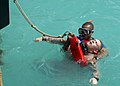 US Navy 080707-N-8968M-206 Navy Diver 3rd Class Kyle Duncan, assigned to Explosive Ordnance Disposal, Expeditionary Support Unit (EODESU) 2, acts as an unconscious diver.jpg