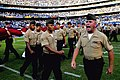US Navy 080825-N-0640K-165 A Marine Corps gunnery sergeant shouts out commands while service members march in formation during the halftime show at the San Diego Chargers 20th-annual Salute to the Military game held at Qualcomm.jpg