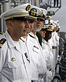 US Navy 090203-N-3316L-077 French Navy Cmdr. Denis Jolas and Sailors man the rails of USS Nashville (LPD 13).jpg