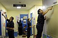 US Navy 090804-N-7280V-401 Sailors assigned to the amphibious command ship USS Blue Ridge (LCC 19) and embarked Seventh Fleet staff Sailors paint a classroom in the Tokyo YMCA International School during a community service pro.jpg