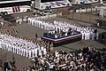 US Navy 091024-N-3357M-152 Sailors and Marines assigned to the amphibious assault ship USS Makin Island (LHD 8) begin to form up for the ship's commissioning.jpg