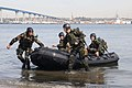 US Navy 100226-N-4420S-348 Crewman qualification training bring a boat to shore during Monster Mash training.jpg
