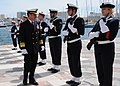 US Navy 100406-N-0982V-051 Vice Adm. Harry B. Harris, Jr., commander of U.S. 6th Fleet, inspects a group of French sailors during a visit to Toulon, the largest port in France.jpg
