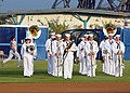 US Navy 110806-N-JP983-020 U.S. Fleet Forces Ceremonial Band performs during a Norfolk Tides baseball game at Harbor Park as part of Navy Tides Nig.jpg