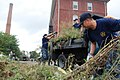 US Navy 110816-N-AU127-790 Chief petty officer selects pull weeds at Soldiers' Home, a veteran's shelter, resource and medial center, in Chelsea, d.jpg