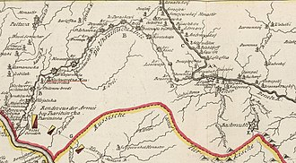 Ukrainian line - Ukrainian Line in 1737