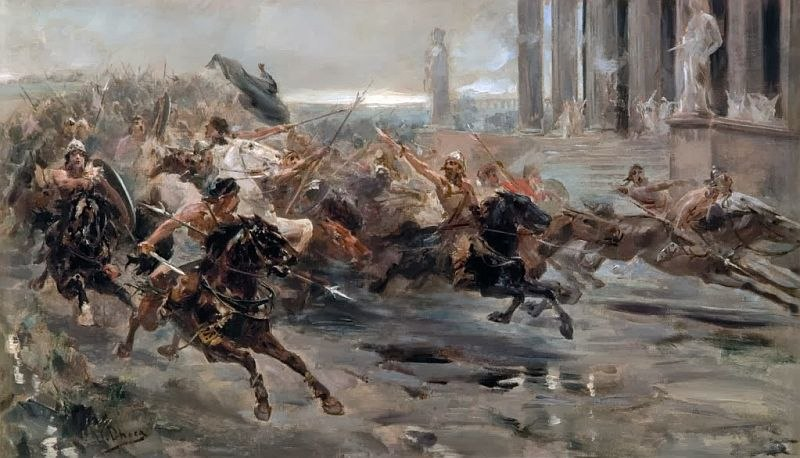 Ulpiano Checa La invasión de los bárbaros