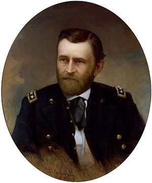 Ulysses S. Grant as commanding general, 1865–1869 - Image: Ulysses S Grant by William F Cogswell, 1868