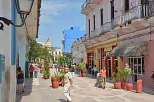 Sancti Spíritus - A pedestrian boulevard in Sancti Spiritus