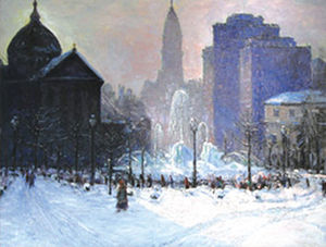 Fred Wagner - A painting by Fred Wagner.