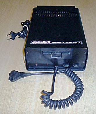 """Komputer 2086 - External 3"""" drive."""