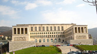 University of Trieste - The University main building on the Scoglietto hill