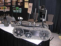 Unmanned military land vehicle at AUVSI convention in Orlando - Florida 04.jpg