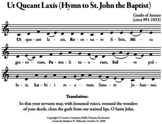 Solfège - Sheet Music for Ut Queant Laxis