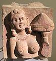Uttar pradesh, epoca kusana,portatrice di offerta, 150 ca..JPG