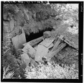 VIEW OF THE COLLAPSED AND DETERIORATED PORTAL OF THE JONES MINE, LOOKING EAST - Jones Mine, Scofield, Carbon County, UT HAER UTAH,4-SCOF,1-2.tif
