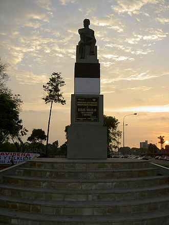 César Vallejo - Monument to César Vallejo in the Jesus Maria District of Lima, Peru.