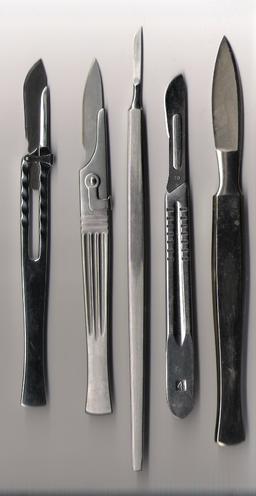 Various scalpels