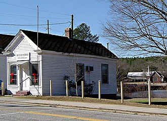 Vaucluse, South Carolina - A U.S. Post Office at Vaucluse, South Carolina, in January 2007. This and two adjacent buildings appear on the 1904 Sanborn Fire Insurance map