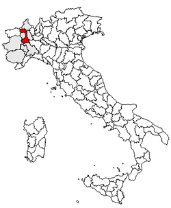 Location of Province of Vercelli