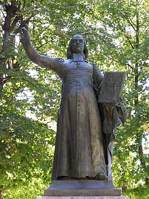 Auguste-François Michaut -  Monument to l'Abbé de L'Épée, 1843, place de la cathédrale Saint-Louis, Versailles.