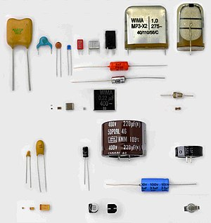Electronic component - Some different capacitors for electronic equipment