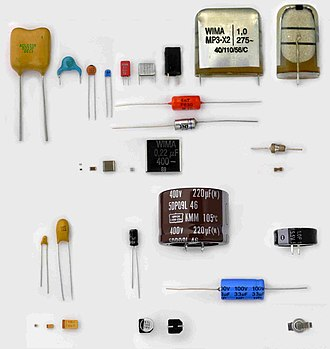 Capacitor types - Some different capacitors for electronic equipment