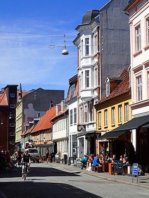 Vestergade, Aarhus - Vestergade is a diverse mix of buildings, representing its long history