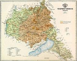 győr domborzati térkép Veszprém vármegye – Wikipédia győr domborzati térkép