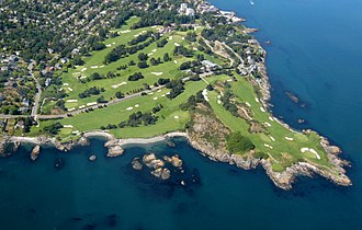 Outline of golf - Aerial view of a golf course
