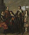 Vier generaties van de prinsen van Oranje; Willem I, Maurits en Frederik Hendrik, Willem II en Willem III Rijksmuseum SK-A-855.jpeg