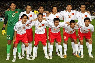 Vietnam national football team - Vietnam team in semi-final first leg 2010 met Malaysia national football team.