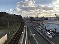 View from overpass of Kajikuri-Godaichi Station (south).jpg