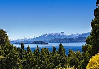 Nahuel Huapi Lake - Image: View from the Golf course at Llao Llao