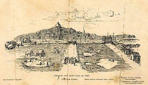 Haymarket Square (Boston) - 1895 drawing of filled land