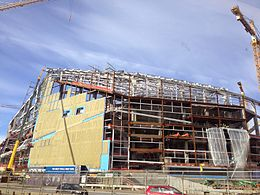 Vikings Stadium 2 Feb 2015 east facade.JPG