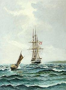 Vilhelm Bille - Seascape med Fregatten Jylland.jpg