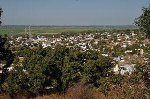 Sanchi Town - Village Sanchi from the Sanchi hill