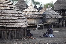 南蘇丹-人口-Village in South Sudan