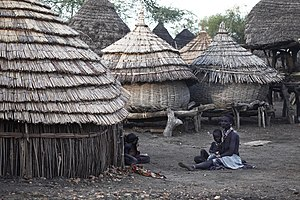 A village in South Sudan
