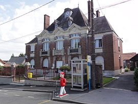The town hall of Villequier-Aumont