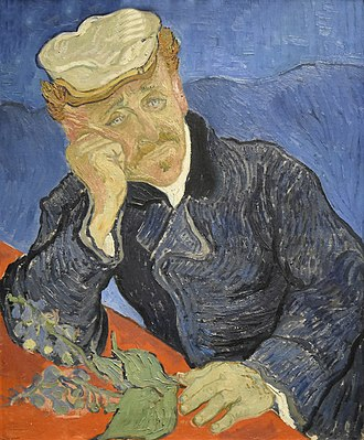 Paul Gachet - Paul Gachet, painting by Vincent van Gogh (1890), second version (see below)