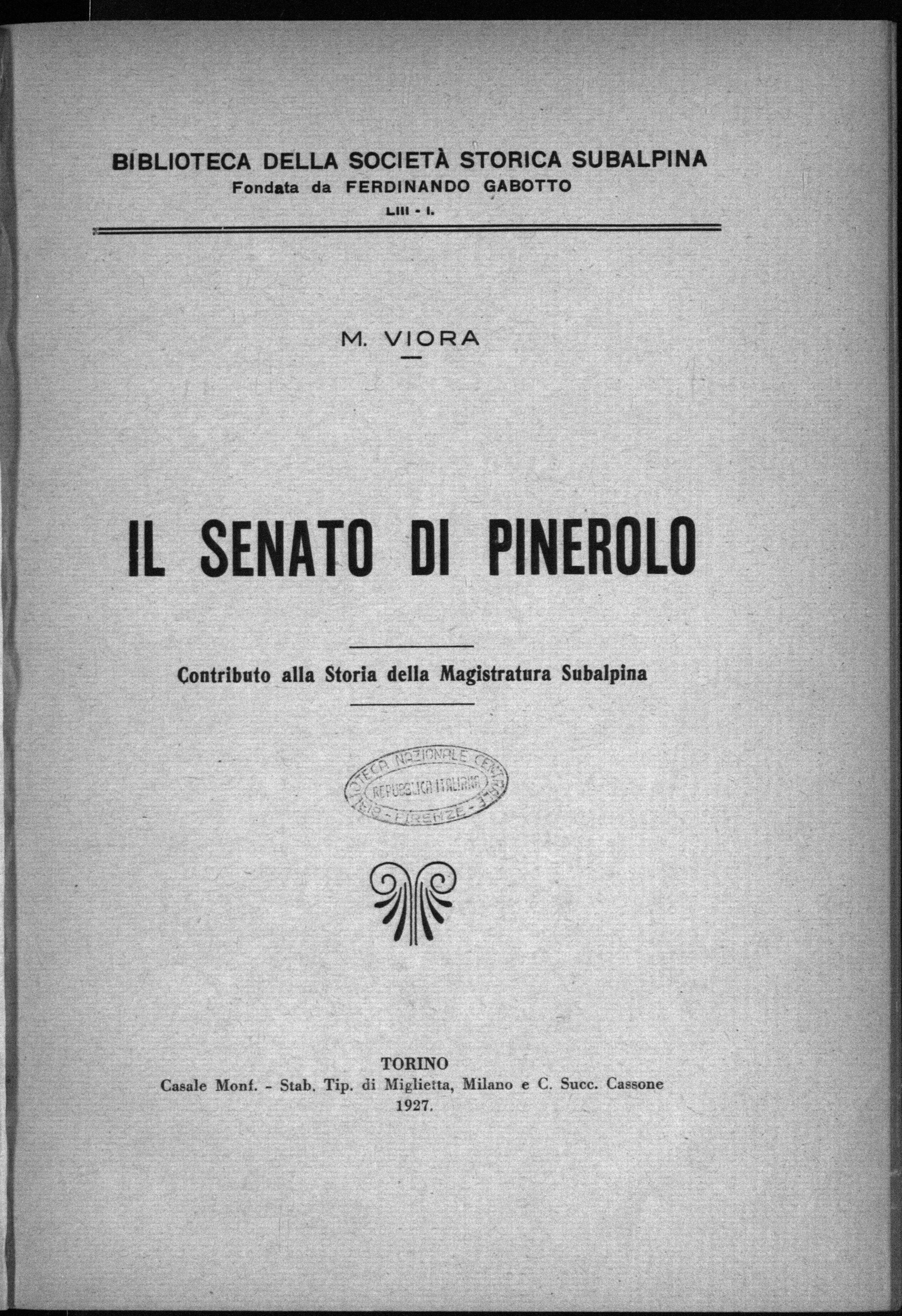 File viora senato di pinerolo 1927 for Il senato italiano